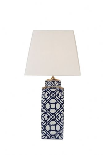Dar Mystic Table Lamp Blue/ White Base Only MYS4223 (Class 2 Double Insulated)